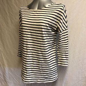 J Crew Boat Neck Striped T-shirt  - Size XS